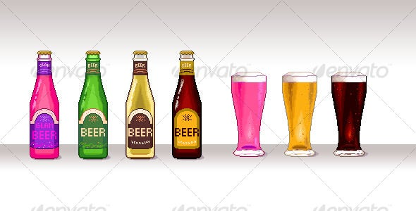 Pixel-Art Beer
