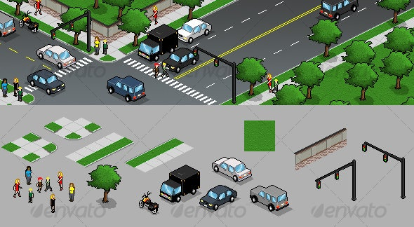 Pixel Art Design Elements