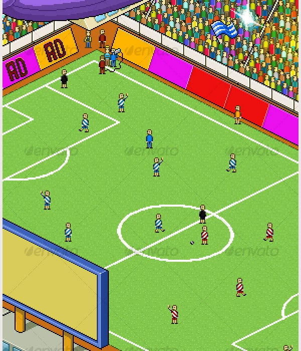 pixel art football stadium1