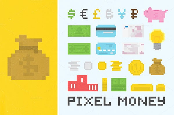 Pixel MoneyMaker set
