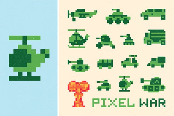 pixel war set