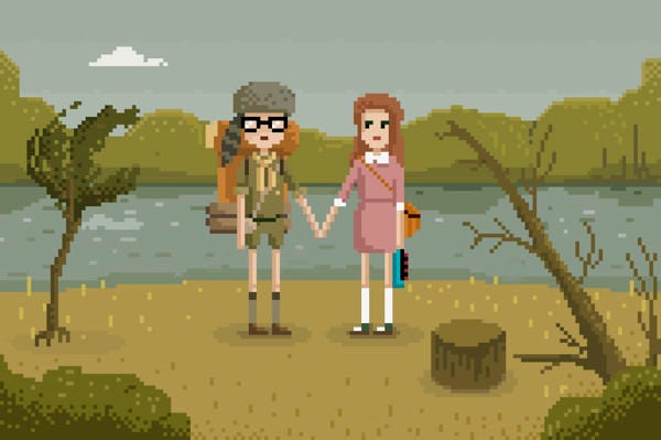 Pixelated portraits of duos