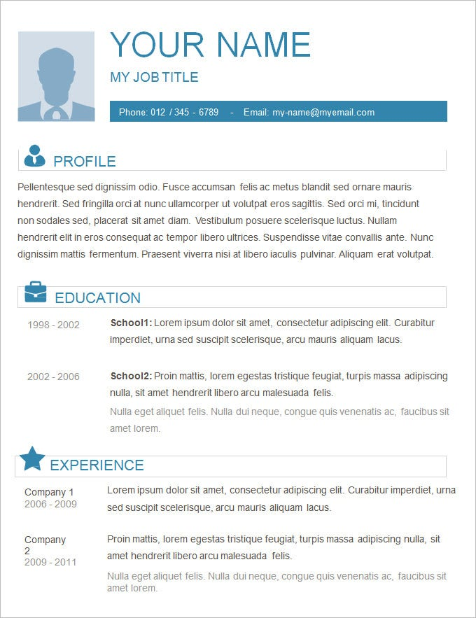 Plain Basic Resume Template. Free Download