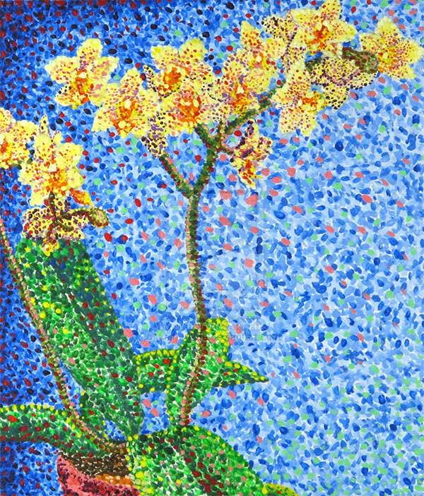 pointillist orchids