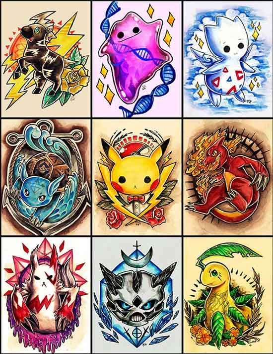 pokemon tattoo designs