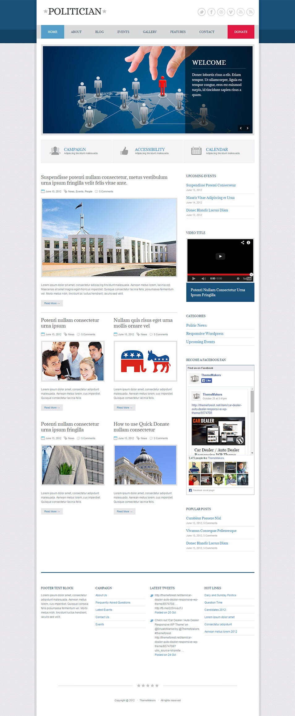 politician css3 template