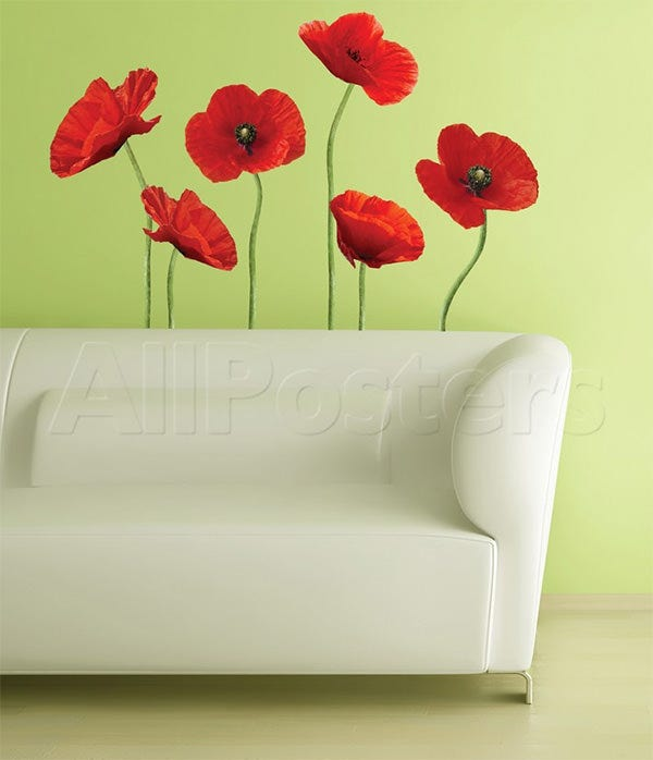 poppies at play peel stick giant wall decals wall decal at allposters