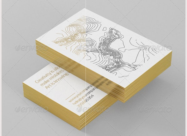 Premium Gold Card Mock-Up