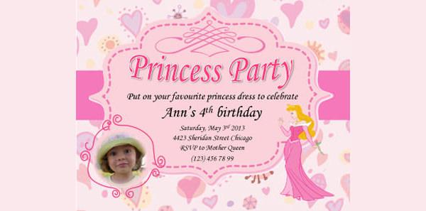 princess ann pink invite