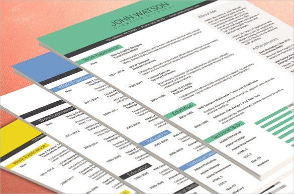 if you are looking for a true professional resume format this portfolio template would be right for you with its neat clean segregation of all the major - It Professional Resume Format