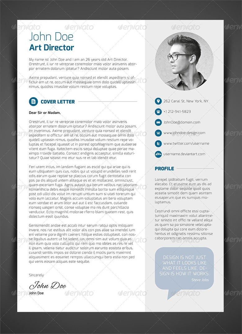Cover letter for art director resume