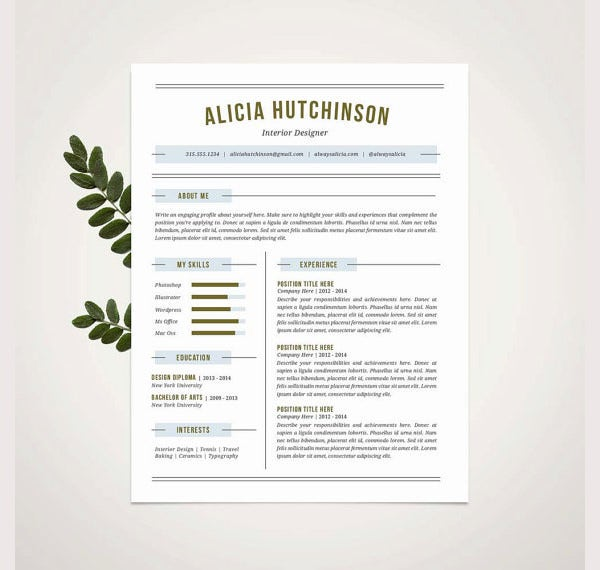 Professional Resume Template – 52+ Free Samples, Examples, Format