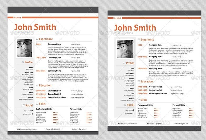 its an edgy sample professional resume template that could be customized for any profession the column structure helps you to separate the work related - Professional Resume Format