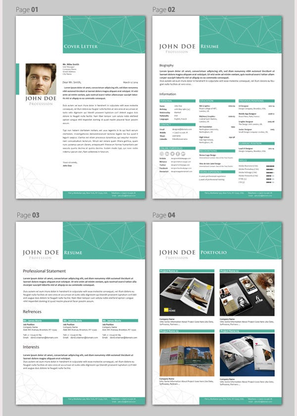 professional resumecv template