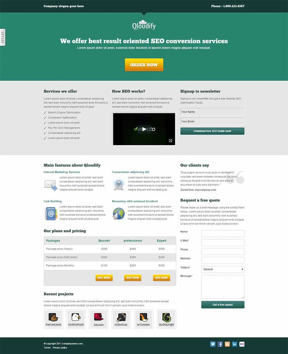 Best SEO Landing Page Templates Free Premium Templates - Website splash page templates