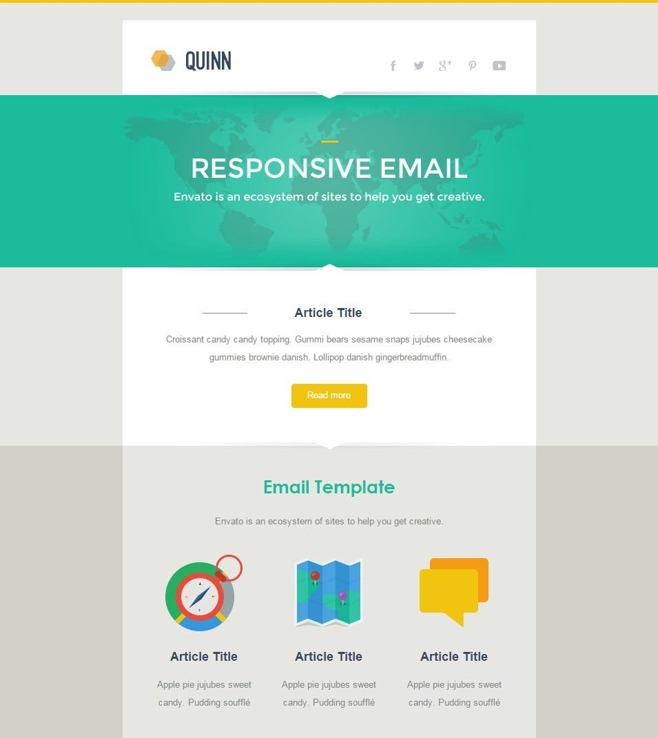 Best responsive email template 28 free psd eps ai for How to make a responsive email template