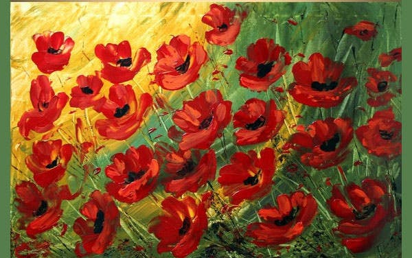 red poppies large giclee flowers print