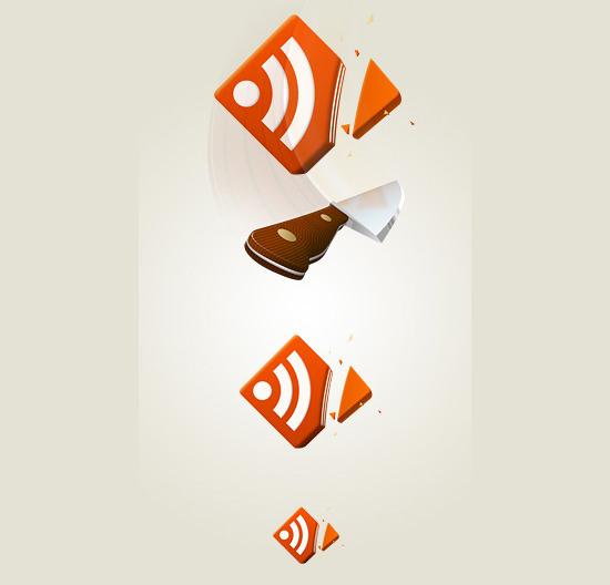 rss feed icon cut