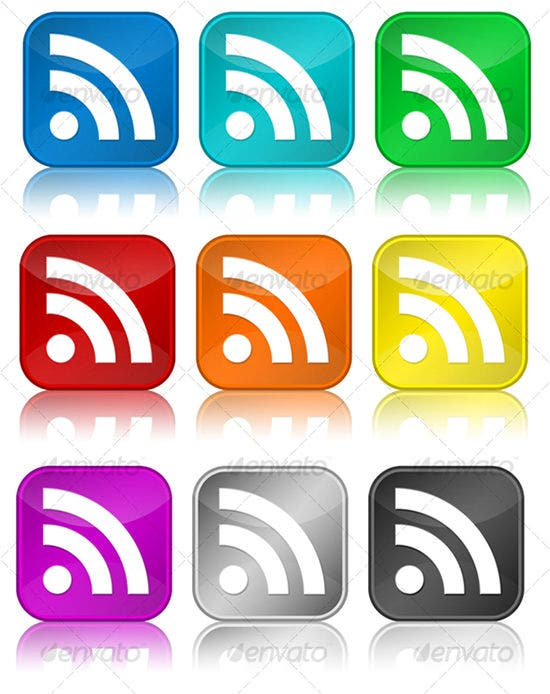 rss glossy icons
