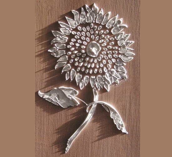 raised plaster sunflower stencil