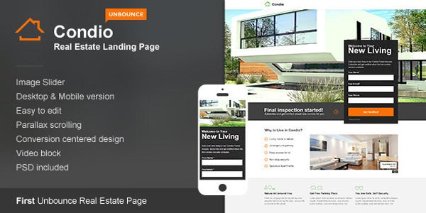 real estate landing page for unbounce