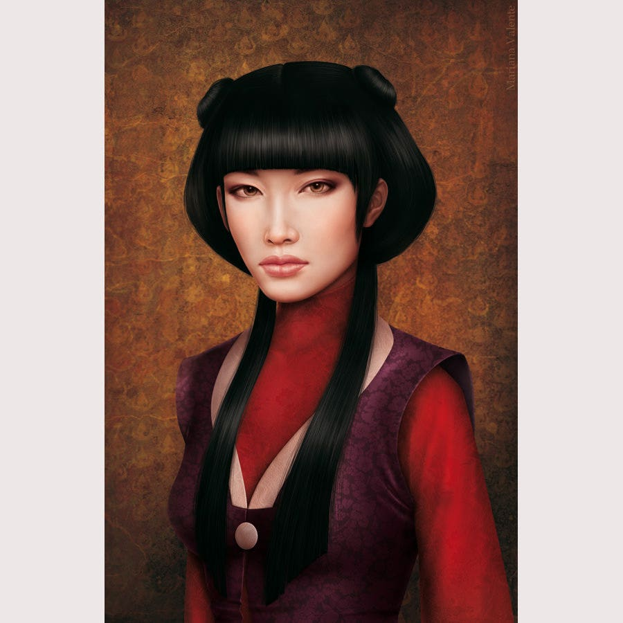 Realistic Painting of Mai