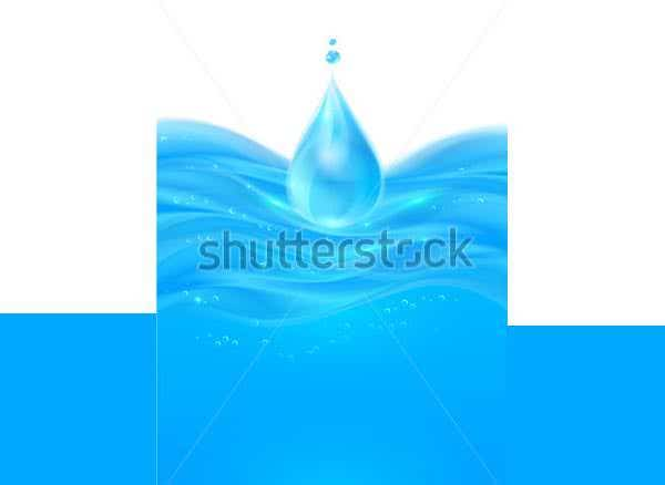 realistic water surface with drop