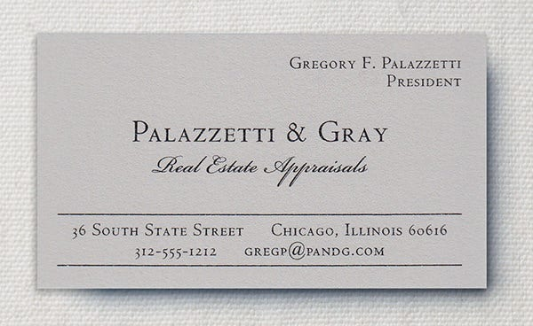 Renaissance Moonstone Grey Business Card