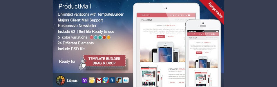 responsive e mail template