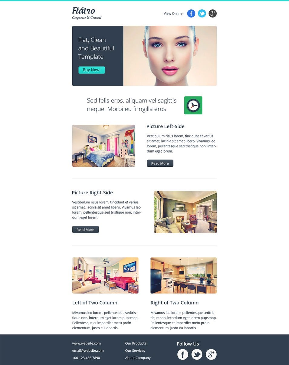 responsive email newsletter template1