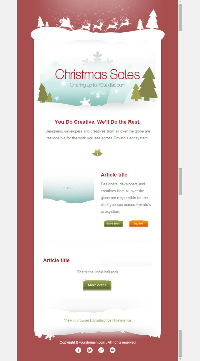 responsive email template 3