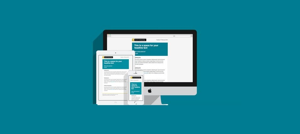 responsive email templates curtin university
