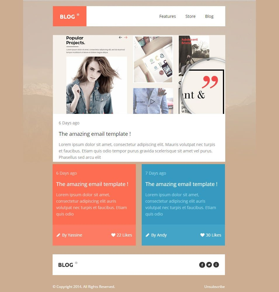Best Mobile Newsletter Templates 20 Free Sample Example