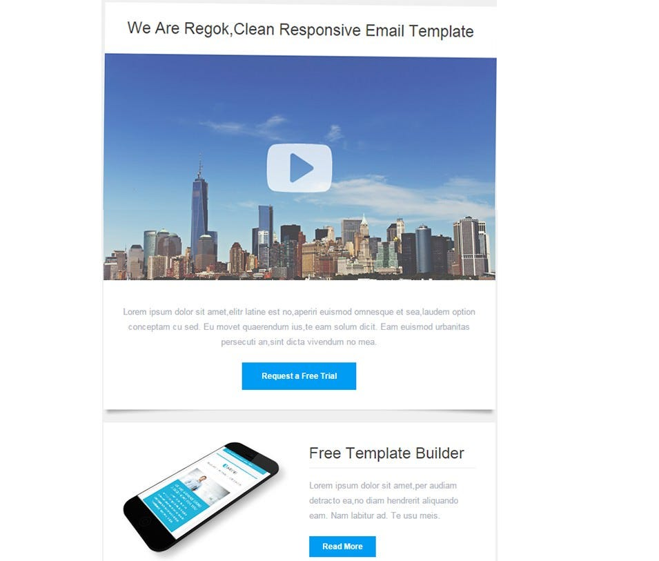 responsive newsletter with template builder 3