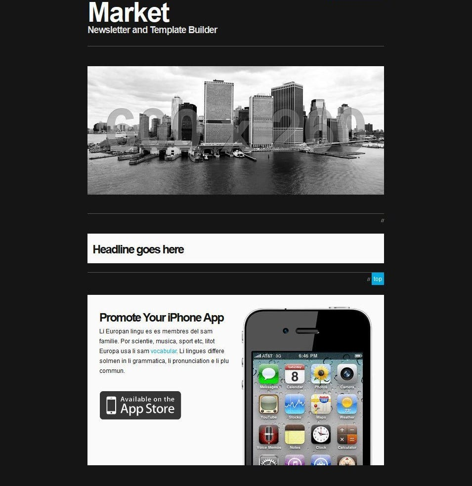 responsive newsletter with template builder
