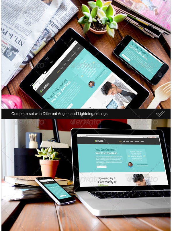 responsive screens device mock up