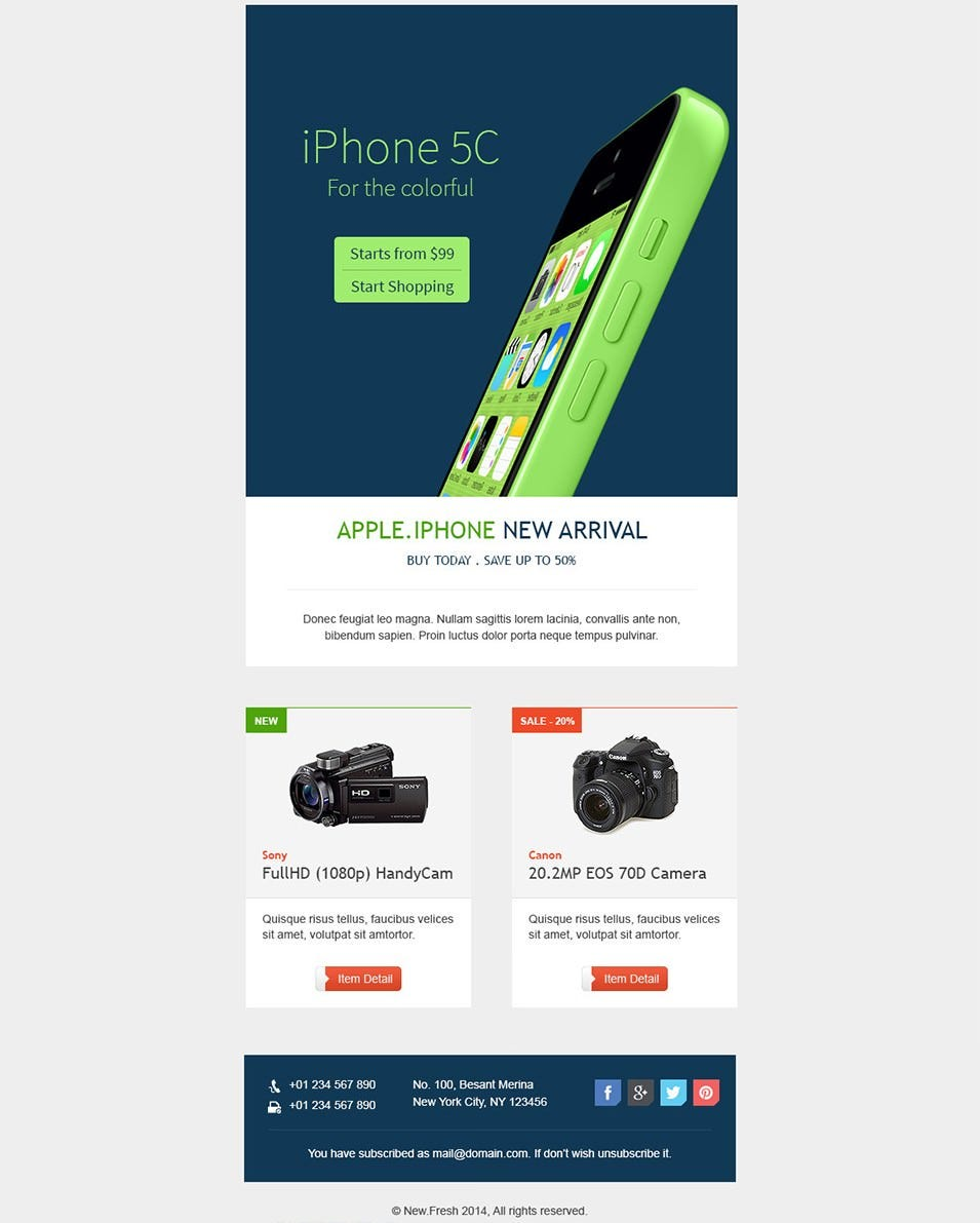 Best Mobile Newsletter Templates   Free Sample Example Download