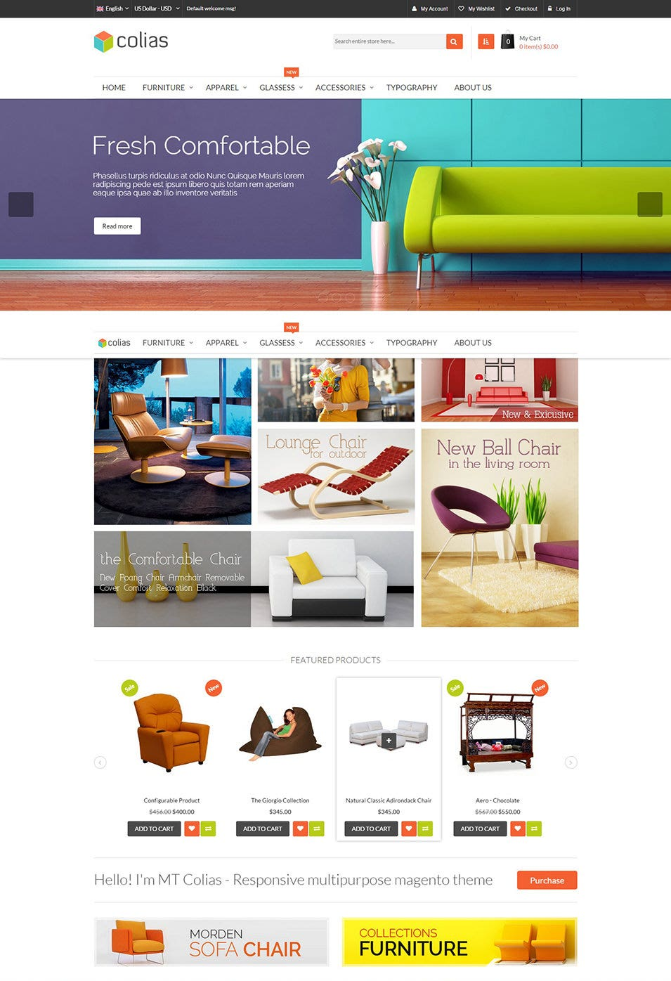 Responsive magento themes MT Colias