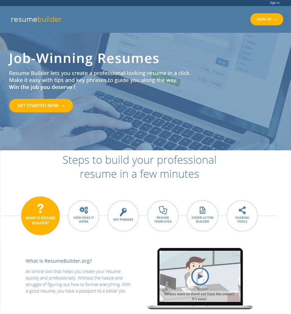 Resume Builder:  Top Resume Sites
