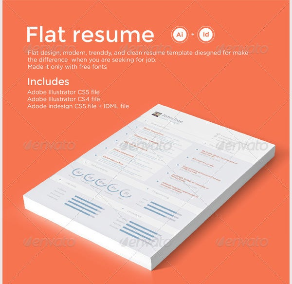 flat resume template  u2013 31  free samples  examples  format