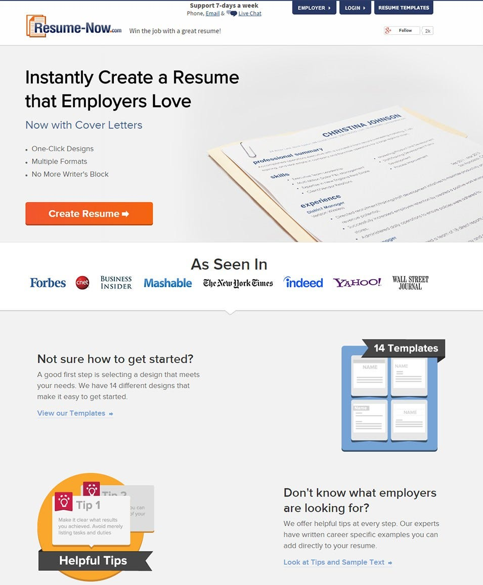 Resume Now U2013 Resume Builder:  Best Resume Sites