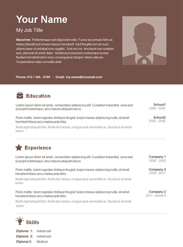 resume template free download - Free Resume Templates Word Document