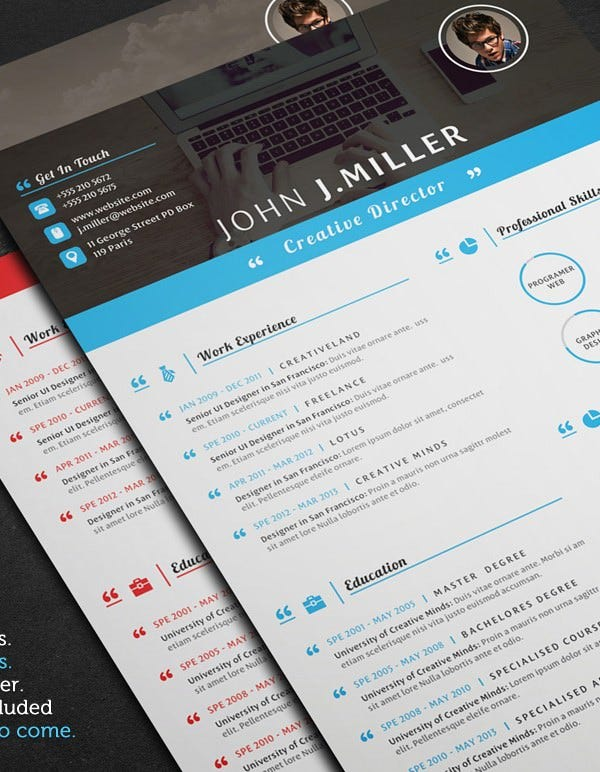 Resume Template For Director  Apple Pages Resume Template