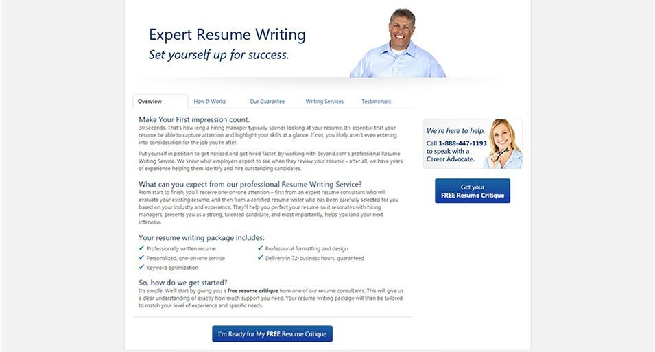 beyond expert resume builder free demo