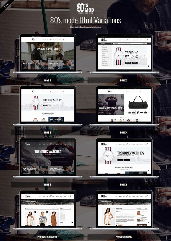 retro styled ecommerce template