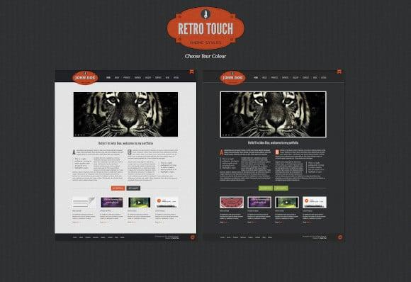 retro touch creative portfolio html template