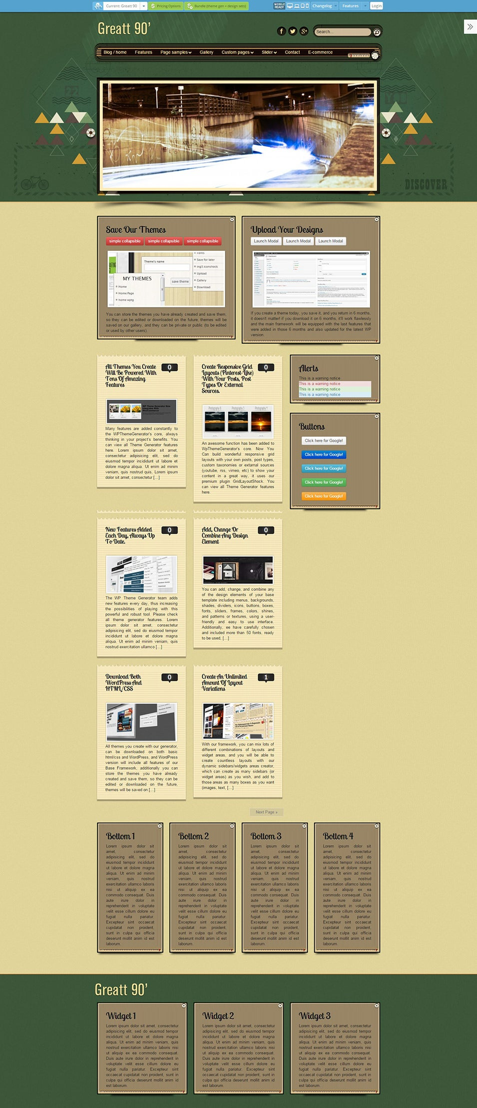 Retro ecommerce wordpress theme