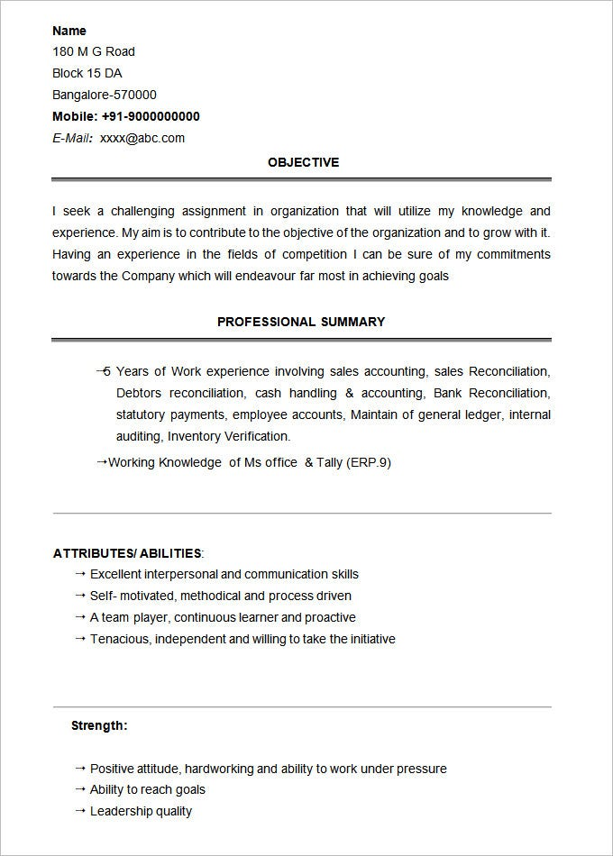 student resume template 21 free sles exles
