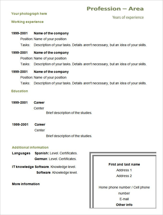 chronological resume template 25 free sles exles