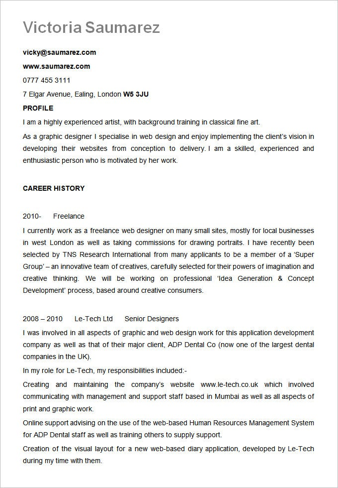 best resume template word 2012